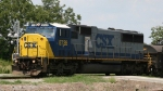 CSX 8728 switches a cut of cars
