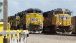 A couple of Southbounds waiting in the Shortline Yard