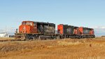 CN 5242 Switching on Fort Saskatchewan Industrial Lead