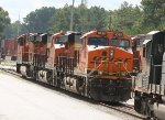 BNSF 8335 leads a trio of BNSF units laying over