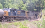 Power of a NB freight going into the tunnel