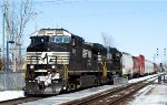 NS-DUO with NS-6912 SD-60E pulling out of Soutwark yard going to Taschereau yard