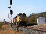 UP 5095  26Nov2012  NB out of CENTEX with mixed-merchandise
