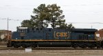 CSX 977 heads towards the yard