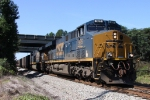 CSX 926 & 911 lead a coal train under I-95