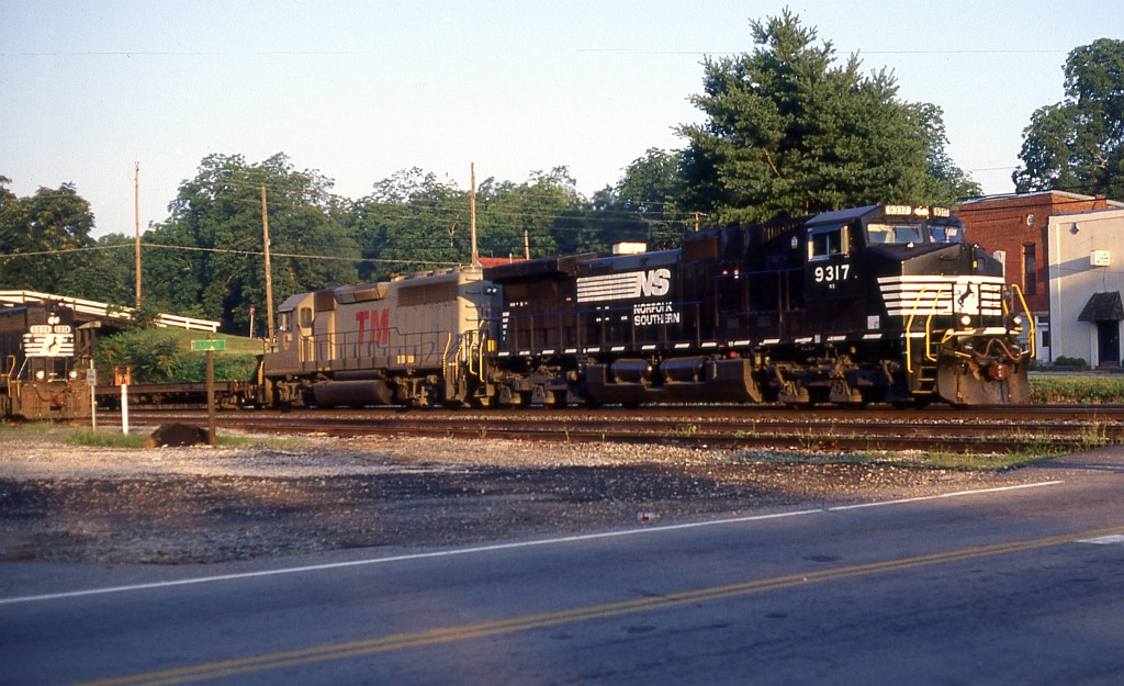 NB freight going by the local power