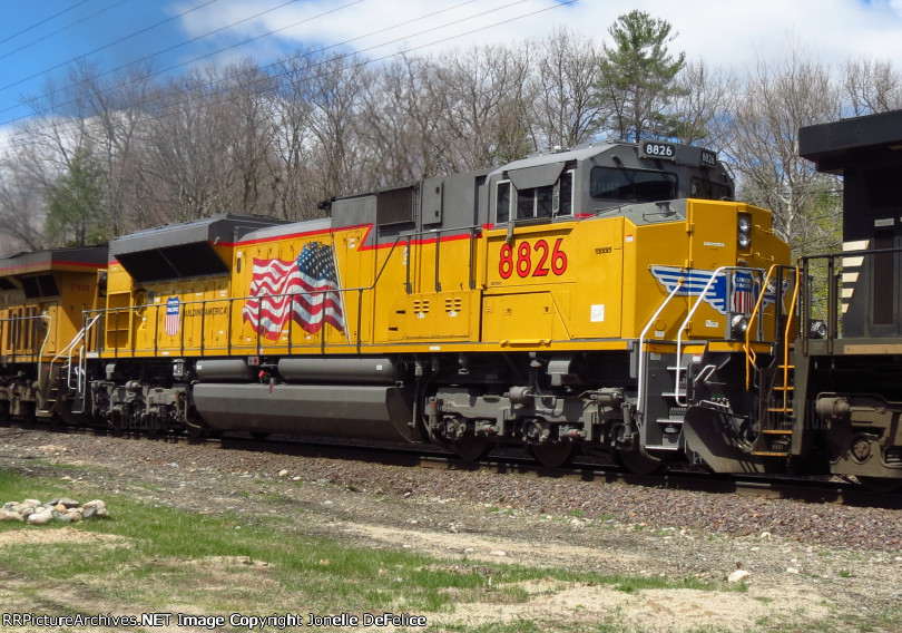 Roster shot union pacific emd sd70ah 8826